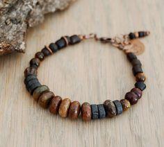 OM bracelet   yoga jewelry  October birthstone opal by OmSaha, $46.00