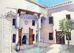 Catherine Mackey Art News: Morocco sketchbook