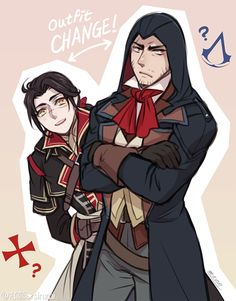 AC Shay and ARNO by GraphiteDoll https://www.tumblr.com/following
