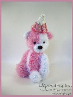 Мишка Клубничное мороженное #teddy #teddybears #handmade #toys #teddybears #presents #knitting