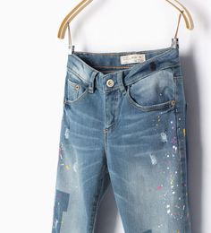 Paint detail jeans-JEANS-GIRL | 4-14 years-KIDS | ZARA United States