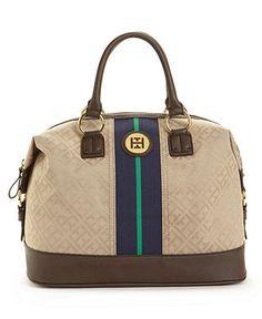 Tommy Hilfiger Handbag, Signature Jacquard Logo Bowler - Sale & Clearance - Handbags & Accessories - Macy's