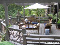 wood decks | Deck Railings | Wood, Glass, Wrought Iron, Cable Rails