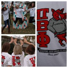 """Pi Beta Phi """"Keeping Arkansas Classy""""  Repin this photo!   Like this photo on our instagram, @houndstooth_press.  Like and share this photo our Facebook page, The Houndstooth Press.  Favorite and retweet this photo on our twitter, @houndstooth_ar.  Every like, share, repin, favorite, and retweet counts as a vote! The chapter with the most combined votes on Friday, November 22 at midnight will win $1000 for their philanthropy and will receive this shirt for free for every member of their chapter!"""