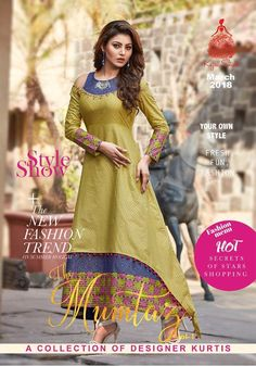 0d23577e26 Presenting latest collections of Kajal Style Mumtaz Lawn Cotton kurti  Catalog name: Mumtaz Fabric details:- Lawn cotton with Guaranteed Gold  print Concept: ...