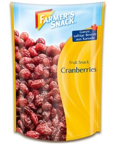 Packung Farmer's Snack Cranberries