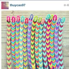 Color Palette For Jewelry And Friendship Bracelets Inspiration Neon Samepatterndiffecolors Spdc Chevron
