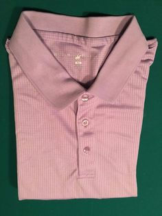 Men's BEVERLY HILLS POLO CLUB Golf Shirt - Lilac - 100% Polyester - Size XL #BeverlyHillsPoloClub #PoloRugby