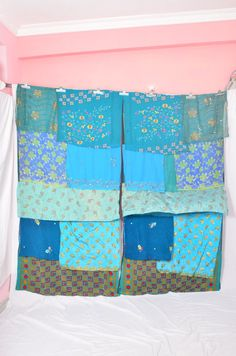 These are so fabulous...been dreaming of them & trying to figure out how I'm gonna make my own; even started acquiring textiles...AND HERE THEY ARE! What to do now????? Handmade Gypsy Draperies Boho Upcycled Textiles by IndianHippy