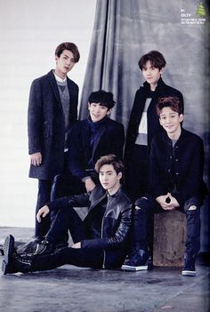 SEHUN CHANYEOL BAEKHYUN SUHO CHEN // 2015 Season's Greetings official calendar