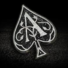 6.80ct VS White & Black Diamond Ace of Spade Custom Charm