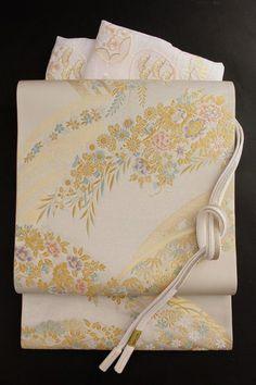 【とみや織物】西陣織袋帯正絹とみや袋帯フォーマル袋帯銀地「露芝秋草」