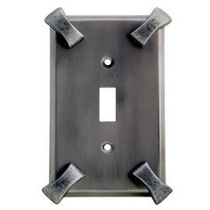 Anne at Home 5003K-736 Hammerhein Switch Outlet Cover Switch by Anne at Home. $27.23. Configuration:Single Duplex/Double Toggle - Three gang plate, Finish:Black with Chocolate Wash Never forget the finishing touch! Fashioned with the most delicate detail, the pewter hardware from Anne at Home is crafted with the same manufacturing techniques used to create fine jewelry, and will gracefully accent the beauty already present in your home. Hammerhein combines rugged cra...