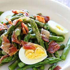 Asparagus Egg and Bacon Salad Recipe   Yummly