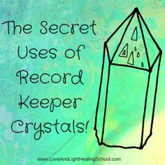 "Record-Keeper crystals have a very unique energy, matched only by their unusual appearance. These crystals can be identified by the appearance of raised or sunken ""record-keeper"" triangles on the..."