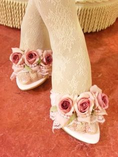 Rose shoes.