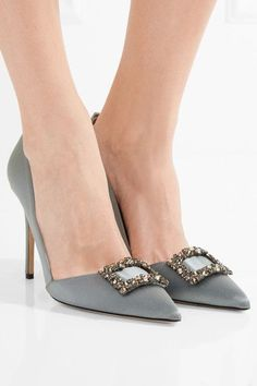5ba057729a1b4f Heel measures approximately 100mm  4 inches Gray satin Slip on Designer  color  Majesty Made