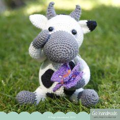 Dorte the caring cow - crochet kit from Go Handmade.
