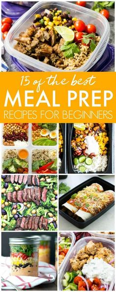 15 of the Best Meal Prep Recipes - Passion For Savings - Meal Prep Recipes, Freezer Meals, Jar Salads, Bento Boxes and more Make Ahead Recipes! Do your prep work once a week for easy weekly cooking! Best Meal Prep, Meal Prep Plans, Lunch Meal Prep, Healthy Meal Prep, Healthy Eating, Healthy Food, Meal Prep For The Week Low Carb, Vegetarian Meal, Healthy Smoothies