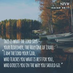NIV Verse of the Day: Isaiah 48:17