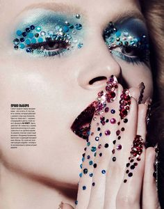 The Marie Claire Russia Winter Nelson Photoshoot Highlights Sparkles #makeup trendhunter.com
