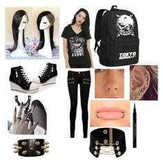 """""""Tokyo ghoul"""" by skylerlasiter on Polyvore featuring Paige Denim and Givenchy"""