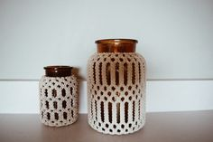 MACRAME APOTHECARY JARS // sale, apothecary jars boho home decor 70s decor macrame bottle macrame glass