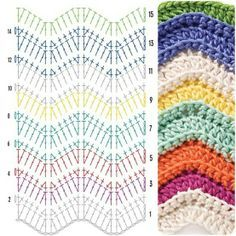 Crochet Bedspread Patterns Part 14 - Beautiful Crochet Patterns and Knitting Patterns Crochet Bedspread Pattern, Crochet Ripple Blanket, Chevron Blanket, Crochet Stitches Patterns, Stitch Patterns, Knitting Patterns, Crochet Afghans, Crochet Blankets, Punto Zig Zag Crochet
