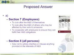 NEBOSH Practice Exam Question