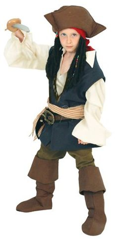 Pirates Fancty Dress Hat Brown Fabric Caribbean Smee Sparrow World Book Day