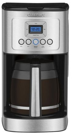 Coffee Maker - Cuisinart Glass Carafe with Stainless Steel Handle Programmable Coffeemaker Coffee Maker Reviews, Best Coffee Maker, Drip Coffee Maker, Machine Expresso, Charcoal Water Filter, Thing 1, Walmart, Coffee Cafe, Gourmet