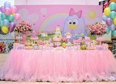 Que linda decor da galinha na versão #candy By @rarimartin #festejandoemcasa #galinhapintadinhafc #festagalinhapintadinha 8th Birthday, 2nd Birthday Parties, Birthday Cake, Candy Colors, Birthday Decorations, Holidays And Events, Princess Peach, Alice, Balloons