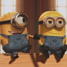 Lol. One of the best movies ever. Despicable Me! :)