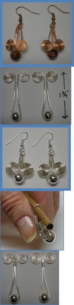 Egyptian Coil Drop Earrings by Judy Larson
