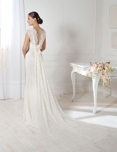 """Grecia"" wedding dress by Novia D'Art, 2013 Collections. www.noviadart.com"