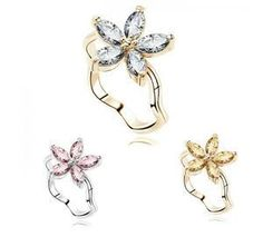 Aliexpress.com : Buy AAA Zircon Ring Five Leaf Flower Rings for woman Stainless Steel Jewelry Wholesale Free shipping HS B0074 from Reliable Rings suppliers on Hopenhagen store
