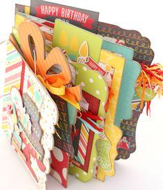Let's Party Birthday Girl or Boy Scrapbook Mini Album