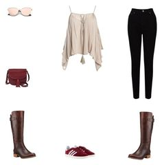 """""""Untitled #274"""" by selise-miles on Polyvore featuring FOSSIL, EAST, Sans Souci, Timberland and adidas"""