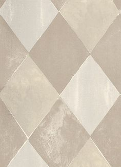Harlequin Stone (TCW1007-02) - Tapet-Cafe Wallpapers - This wallpaper creates a modern and dramatic twist on traditional tile effect wallcoverings. This strong geometric design had a delightful weathered effect. Shown here in taupe with metallic stone. Other colourways are available. Please request a sample for a true colour match.