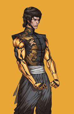 Check out some of the best cyberpunk character concept art online. Rpg Cyberpunk, Cyberpunk Girl, Cyberpunk Character, Character Concept, Character Art, Concept Art, Bruce Lee Art, Martial Artists, Sci Fi Characters