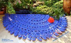 I ALSO ... CROCHETO: Carpet Half Moon Blue Printed in Trapilho
