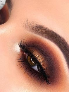 Cute eye makeup uses Morphe The James Charles Palette! Cute eye makeup uses Morphe The James Charles Palette! Cute Eye Makeup, Normal Makeup, Makeup Eye Looks, Wedding Makeup Looks, Natural Eye Makeup, Fall Makeup, Makeup For Brown Eyes, Eyeshadow Looks, Eye Makeup Tips