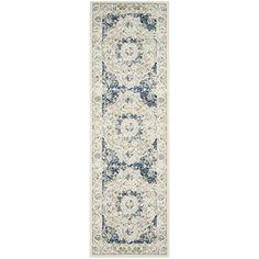 Amazon.com: Safavieh Evoke Collection EVK220C Oriental Vintage Ivory and Blue Area Rug (3' x 5'): Kitchen & Dining