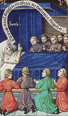 jacob blesses his sons Augustine Of Hippo, City Of God, Book 1, Mythology, My Books, Sons, Blessed, Miniatures, Museum
