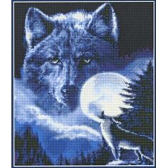 Spirit of the Wolf - a counted cross stitch chart