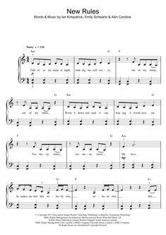 Due Lipa New Rules Sheet Music, Piano Notes, Chords Ukulele Songs, Piano Songs, Violin Sheet, Piano Sheet Music, Beginner Piano Lessons, Piano Teaching, Learning Piano, Playing Piano, Out Of My Mind
