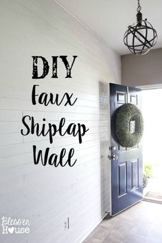Great tutorial for a DIY Faux Shiplap Wall