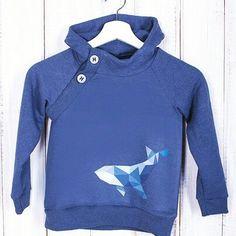 Детский свитшот с китом. Российский бренд.Авторская работа. #grecha.store