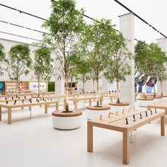 Apple's central London store has reopened following a major renovation by Foster + Partners that shows the tech giant's new approach to retail.