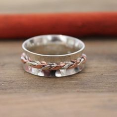 925 Sterling Silver and Copper twist spinner! Just £36 and free uk delivery!